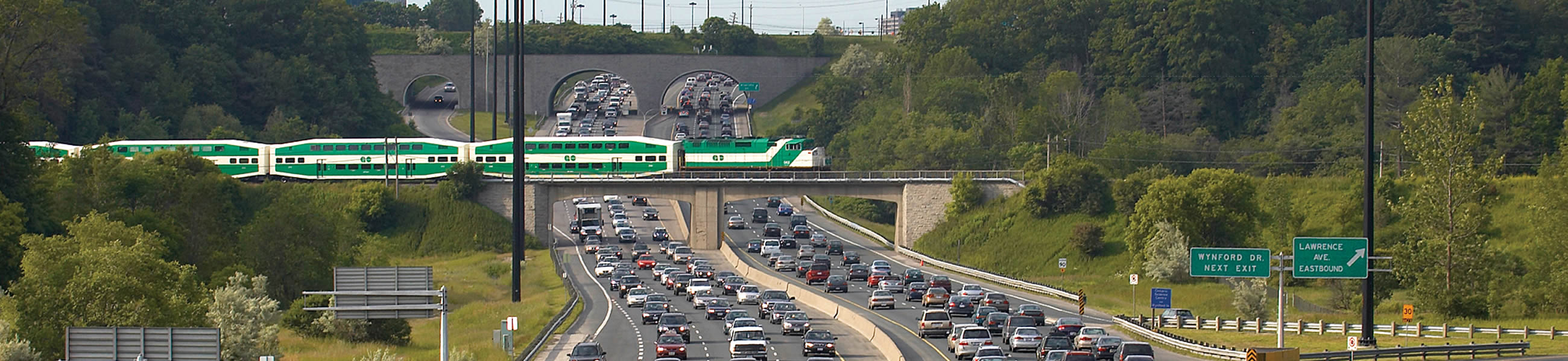 Morning traffic and the Go Train